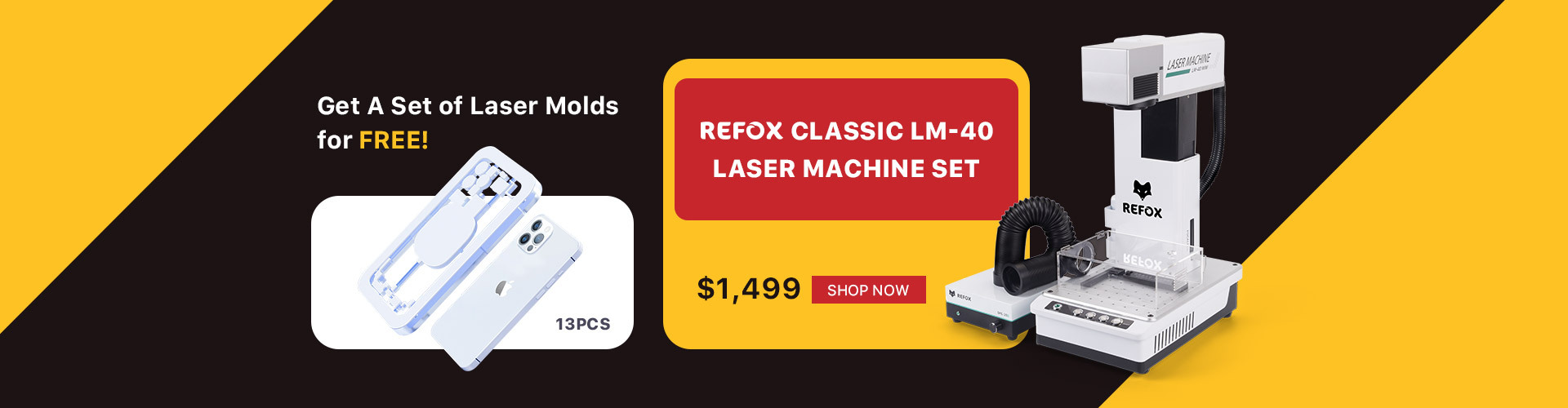 REFOX LM-40 Laser Machine Set with Free Molds
