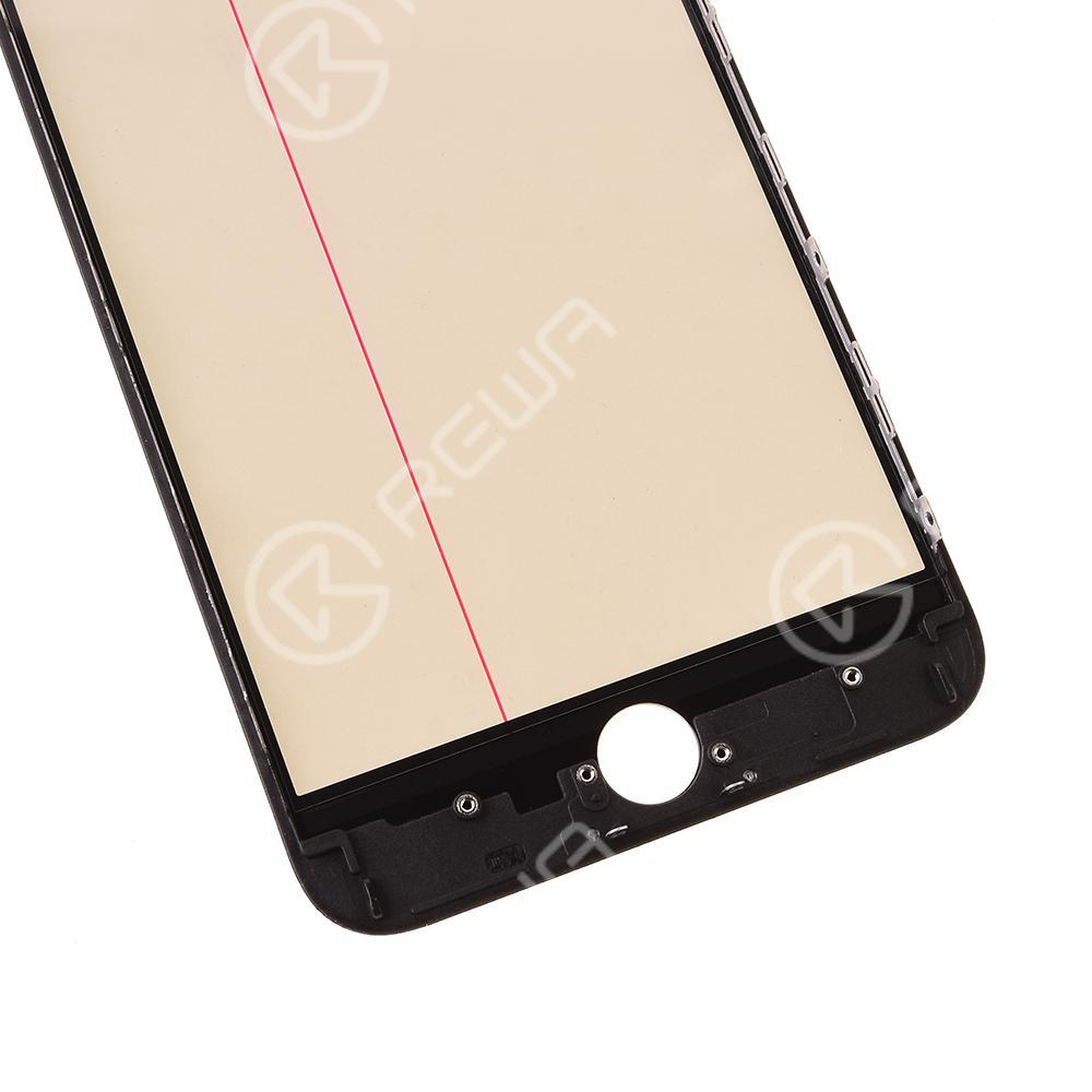 For Apple iPhone Glass Lens With Front Bezel OCA Glue sheet and Polarizer Film