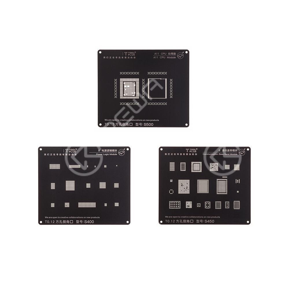 3D Square Hole Black Reballing Stencil For iPhone 6/6 Plus/6s/6s plus/7/7plus/8/8plus
