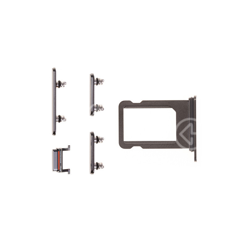 For Apple iPhone XS Side Button Set with SIM Card Tray