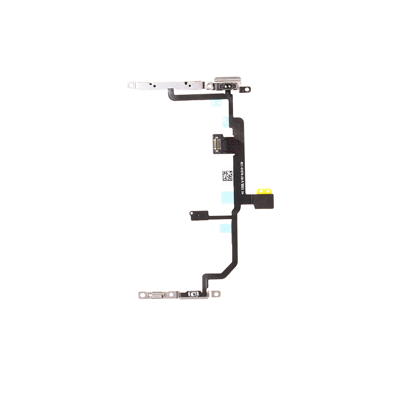 For Apple iPhone 8 Plus Power Switch Volume Flex Cable with Metal Plate