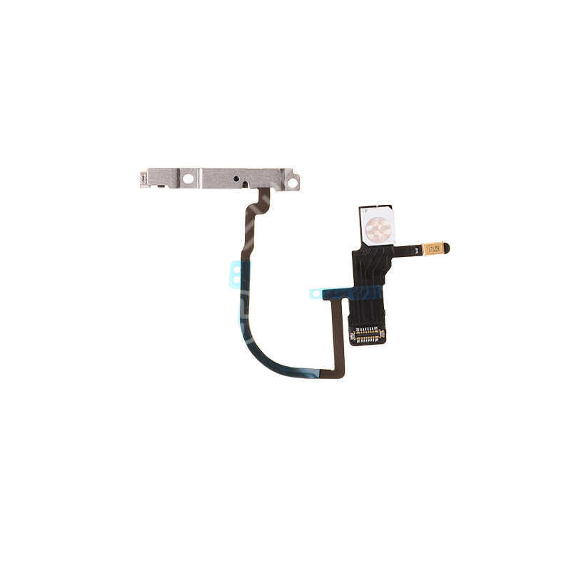 For Apple iPhone XS Power Switch Flex Cable Replacement with Metal Plate