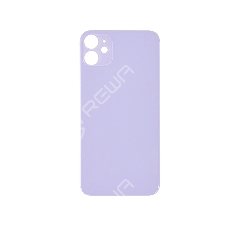 For iPhone 11 Back Glass Cover With Big Camera Hole Replacement (No Logo)