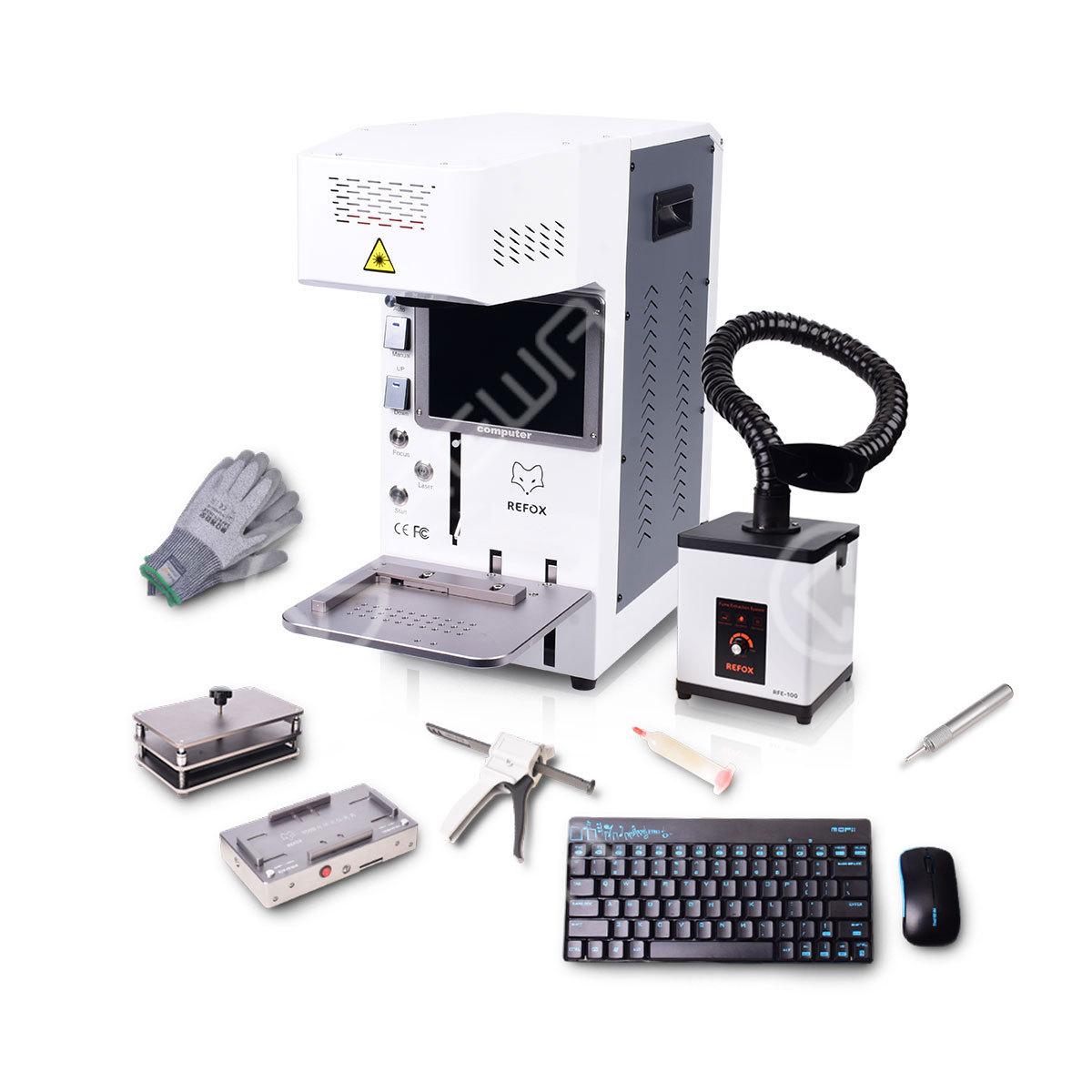 REFOX Automatic Desktop  Laser Marking Machine Set