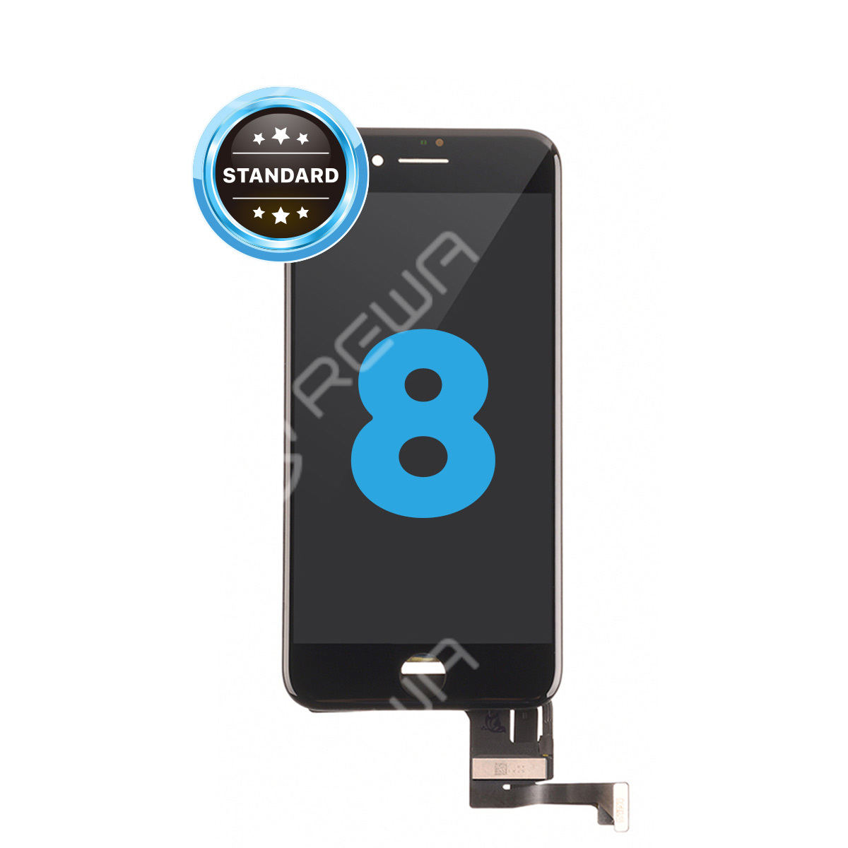 For Apple iPhone 8 LCD Assembly with Frame ( Aftermarket  Standard )