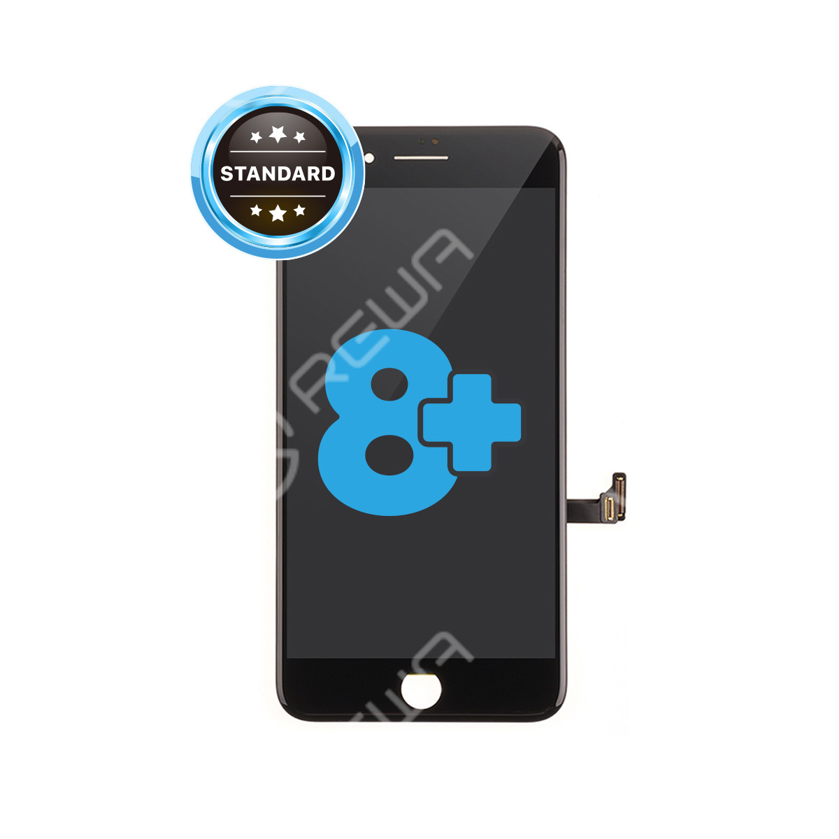 For Apple iPhone 8 Plus LCD Assembly with Frame ( Aftermarket  Standard )
