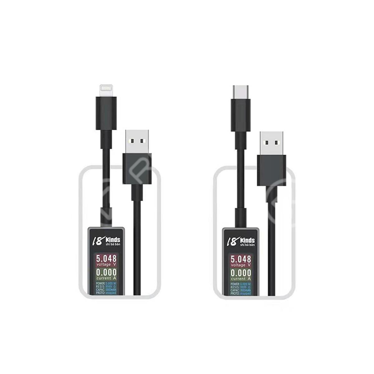 AV-Line Intelligent Detection Charging Cable (Lighting/Type-C to USB)