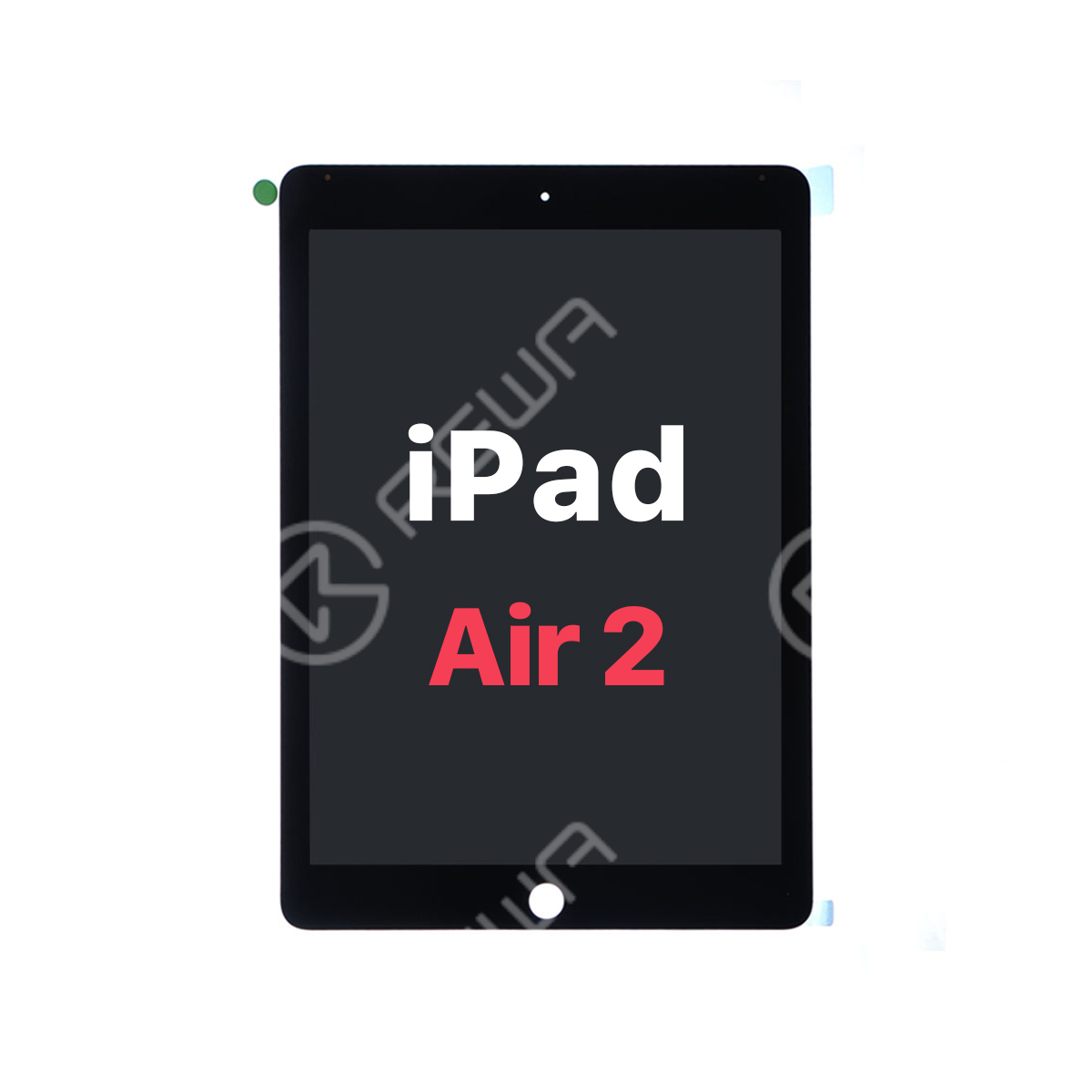 For Apple iPad Air 2 LCD Touch Screen Digitizer Assembly with Dormancy Flex Cable
