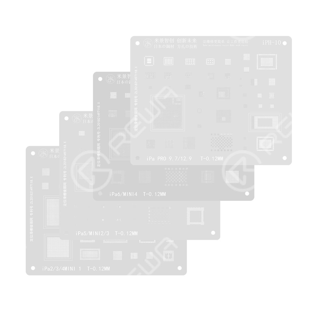 MiJing Reballing Stencil For iPad Series