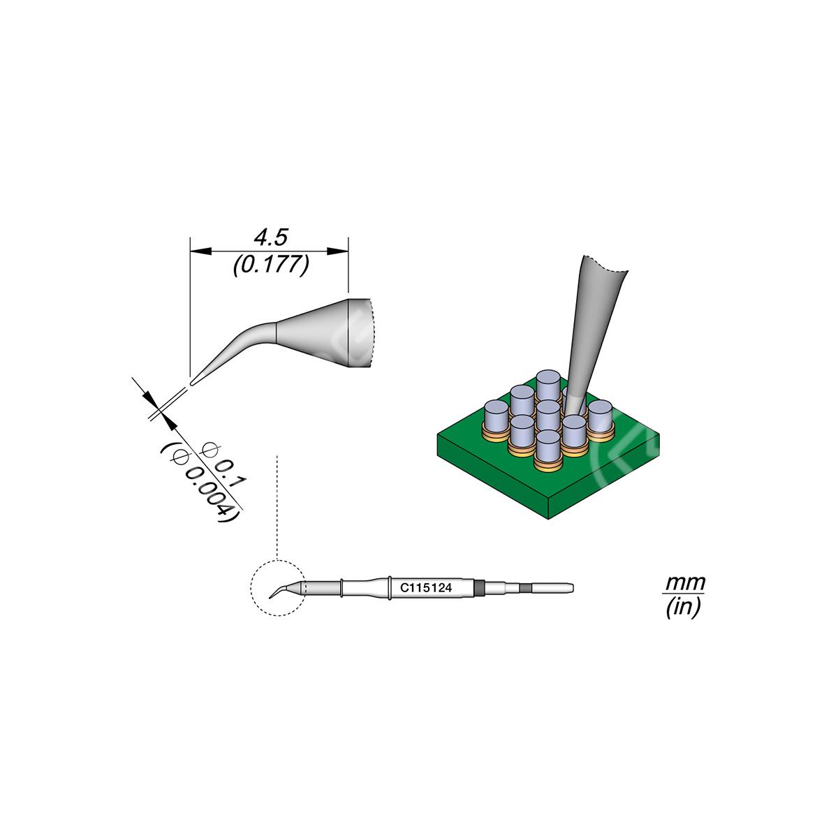 JBC C115 Soldering Iron Tip Replacement