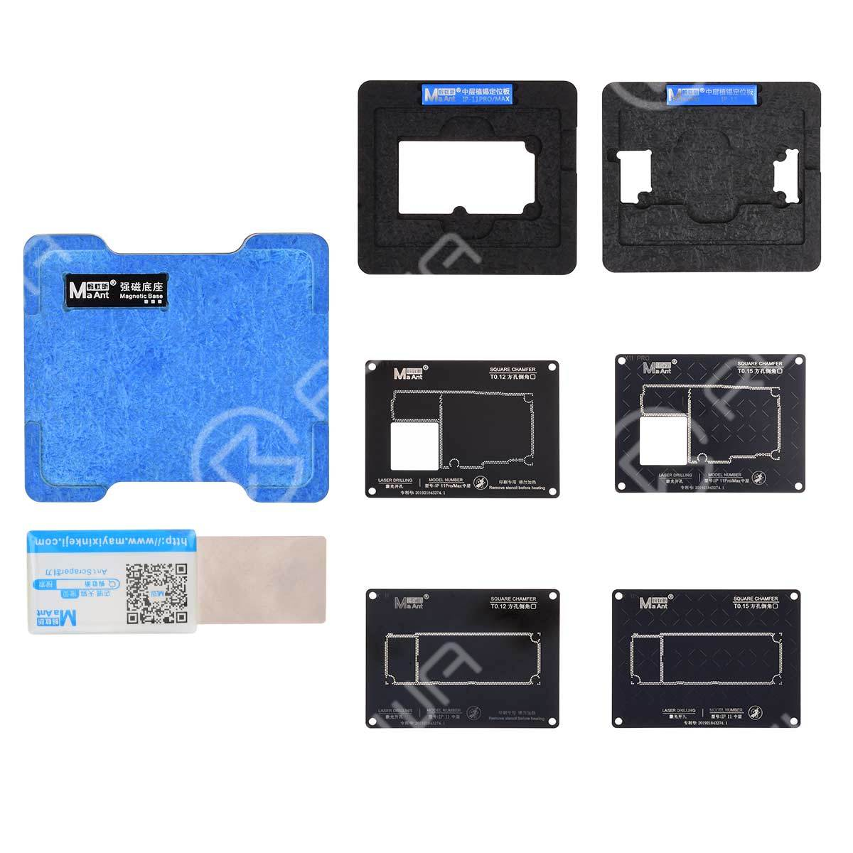 MaAnt Magnetic Middle Frame Reballing Platform For iPhone X-11 Pro Max